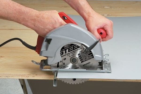 How To Cut Metal With A Circular Saw | SawsReviewed