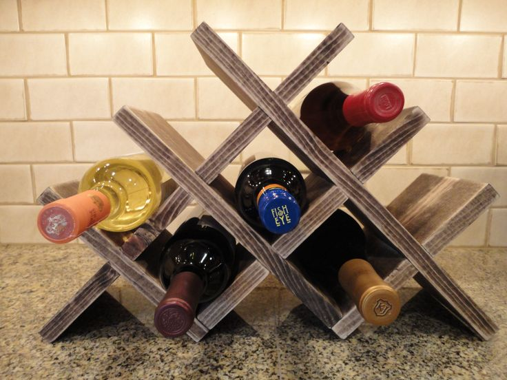 diy wooden wine holders
