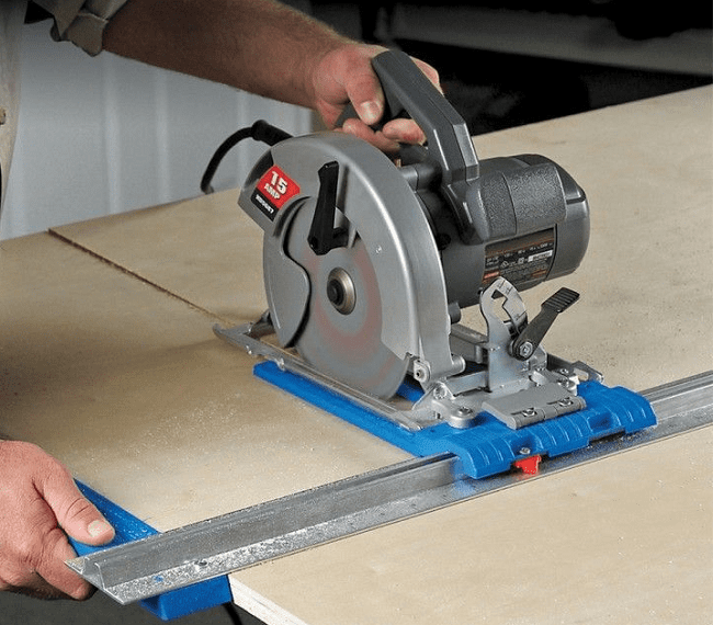Cutting With Circular Saw Guide