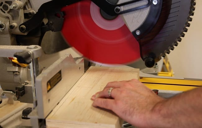 Cutting With Miter Saw