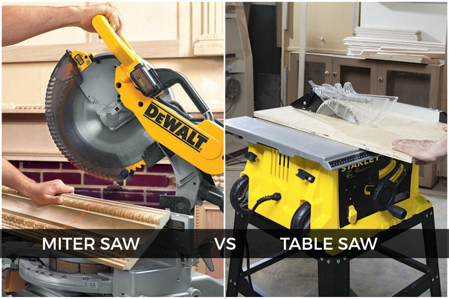 Miter Saw Vs. Table Saw Comparison