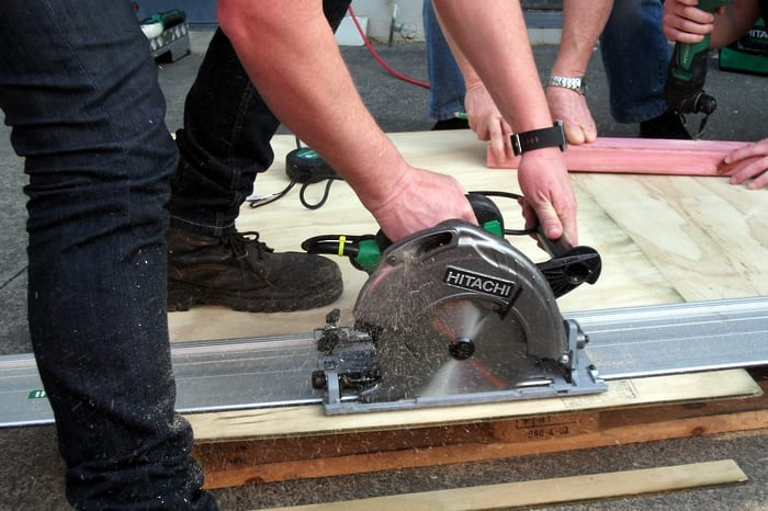 Cutting With Hitachi Circular Saw
