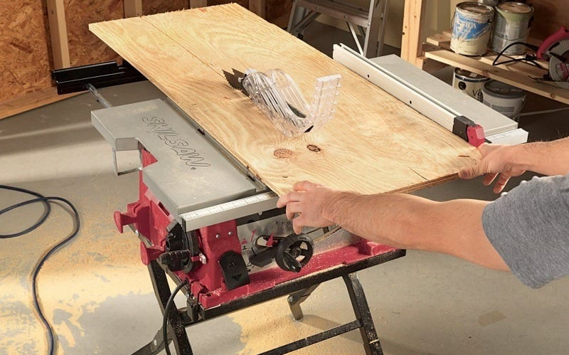 working with a table saw