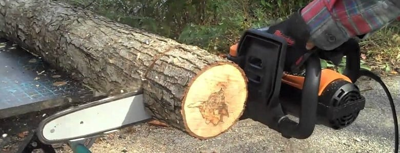 electric powered chainsaw